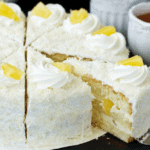 Slices of Homemade Pineapple Cake