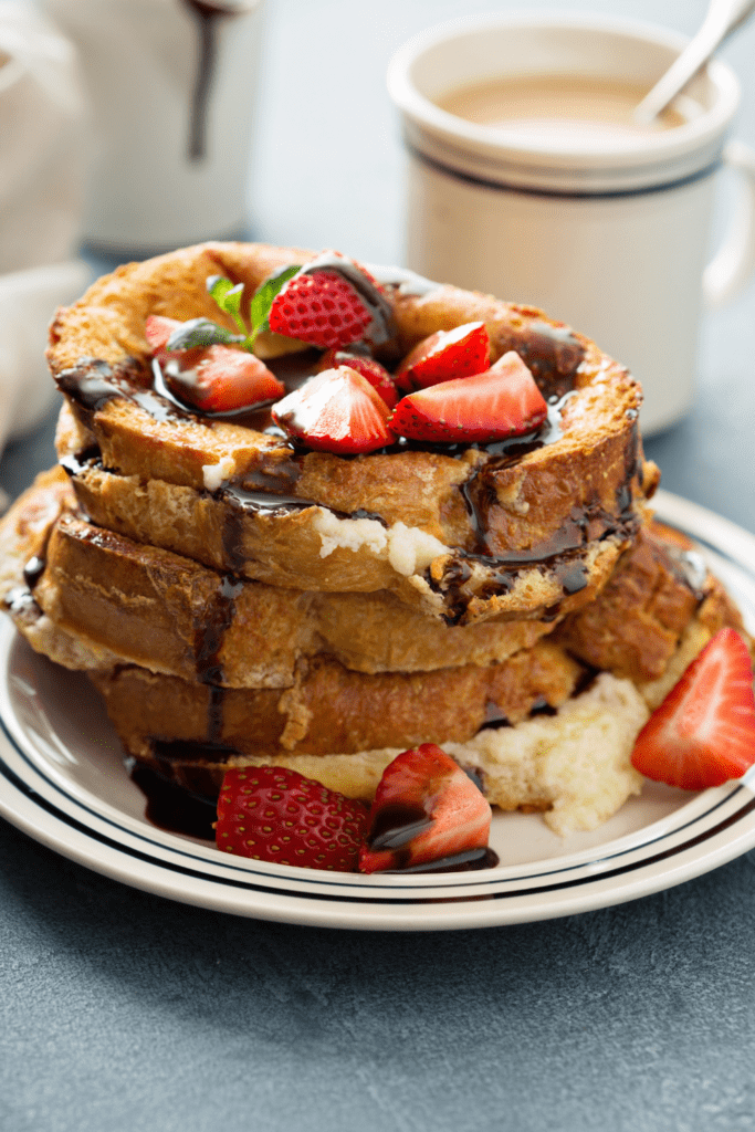 Tasty French Toast with Strawberry Toppings