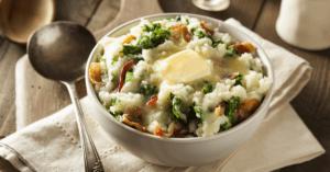 Traditional Irish Mashed Potatoes Colcannon