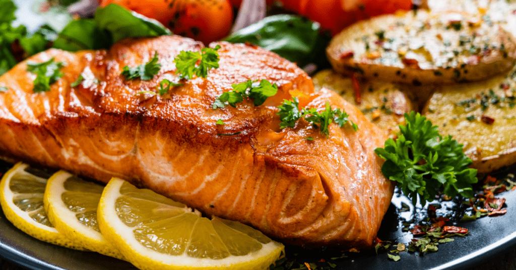 Salmon with Lemons and Potatoes