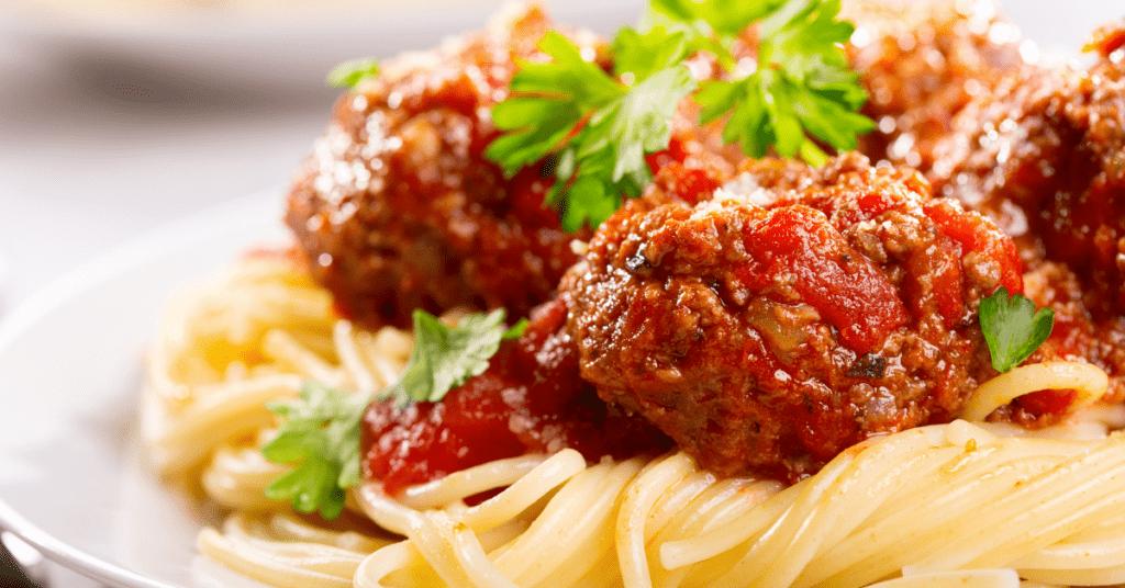 Turkey Meatballs with Pasta