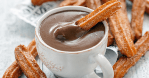 A Cup of Hot Chocolate with Churros