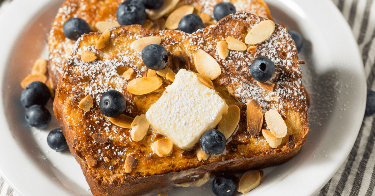 Brioche French Toast with Blueberries and Almonds