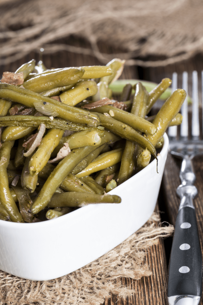 Canned Green Beans with Bacon