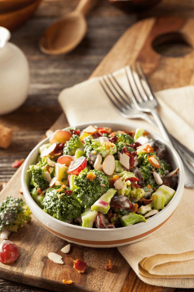 Creamy Broccoli Salad in a Bowl