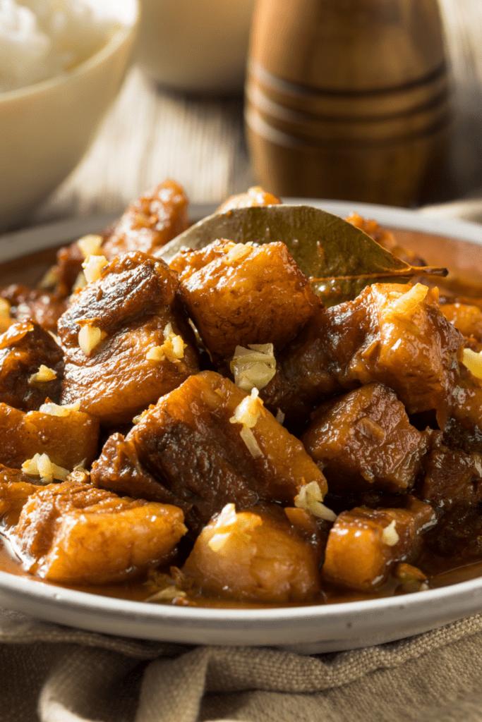 Famous Filipino Cuisine Pork Adobo