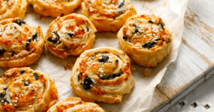 French Pastry Pinwheels with Cheese and Spinach