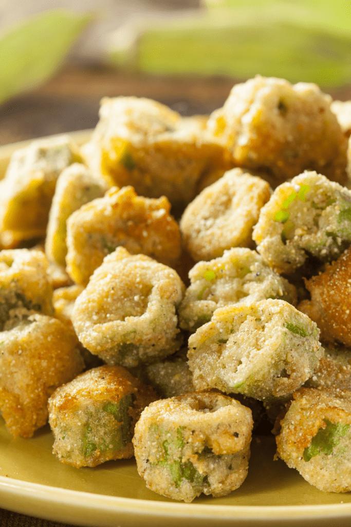 Homemade Fried Green Okra