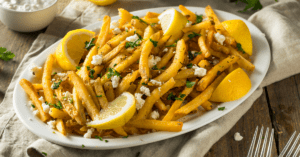 Greek Feta and Parsely Fries with Lemons