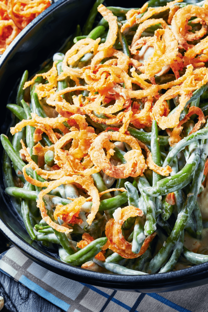 Green Bean Casserole with Crispy Fried Onions