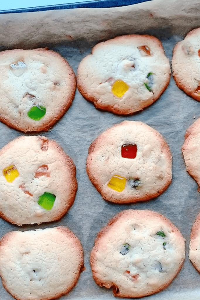 Gumdrop Cookies in a Pan Sheet