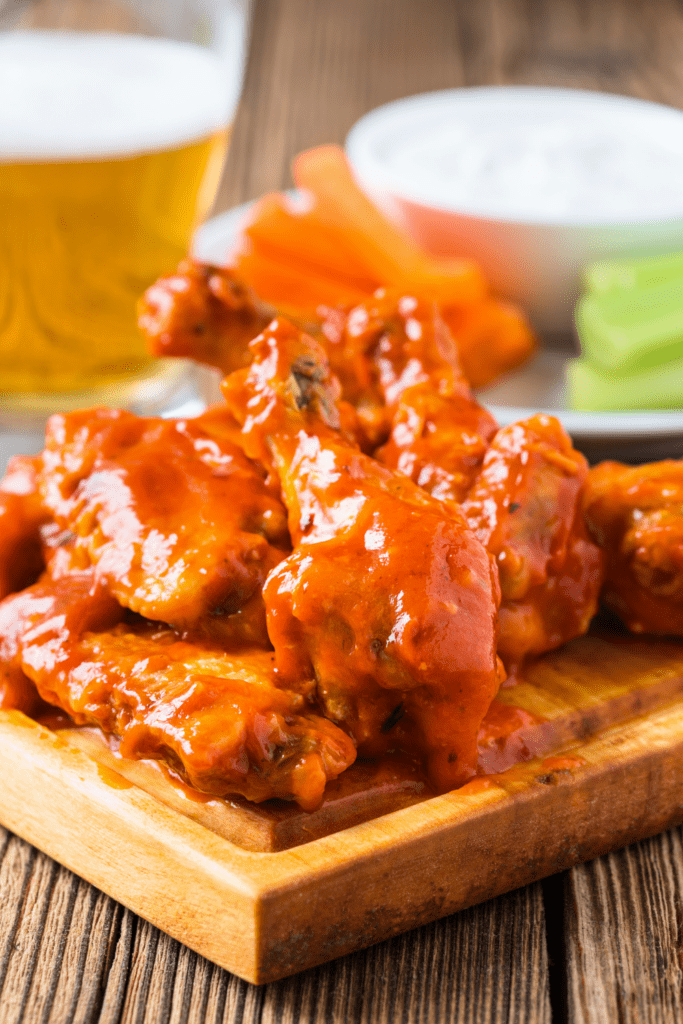 Homemade Buffalo Chicken Wings with Worcestershire Sauce and Beer