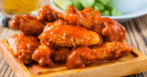 Buffalo Chicken Wings with Worcestershire Dip