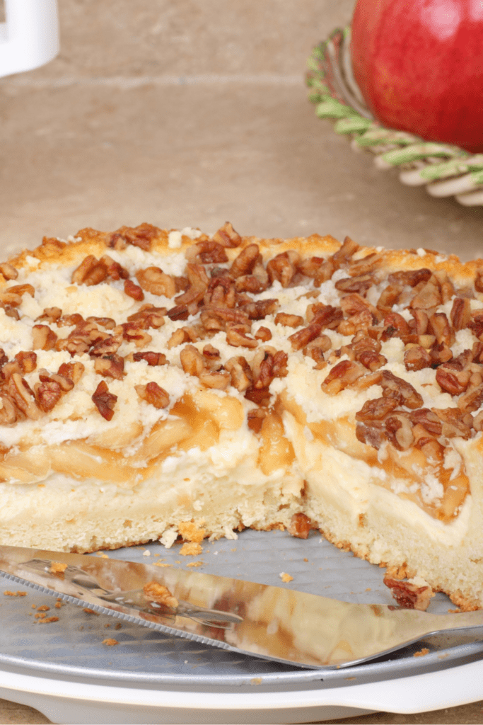 Cream Cheese Coffee Cake with Pecan Nuts