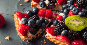 Homemade Key Lime Fruit Tart with Berries
