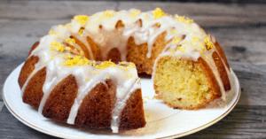 Homemade Lemon Sour Cream Cake