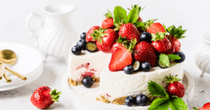 Homemade No-Bake Berry Cheesecake