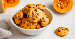 Homemade Pumpkin Cookies with Chocolate Chips