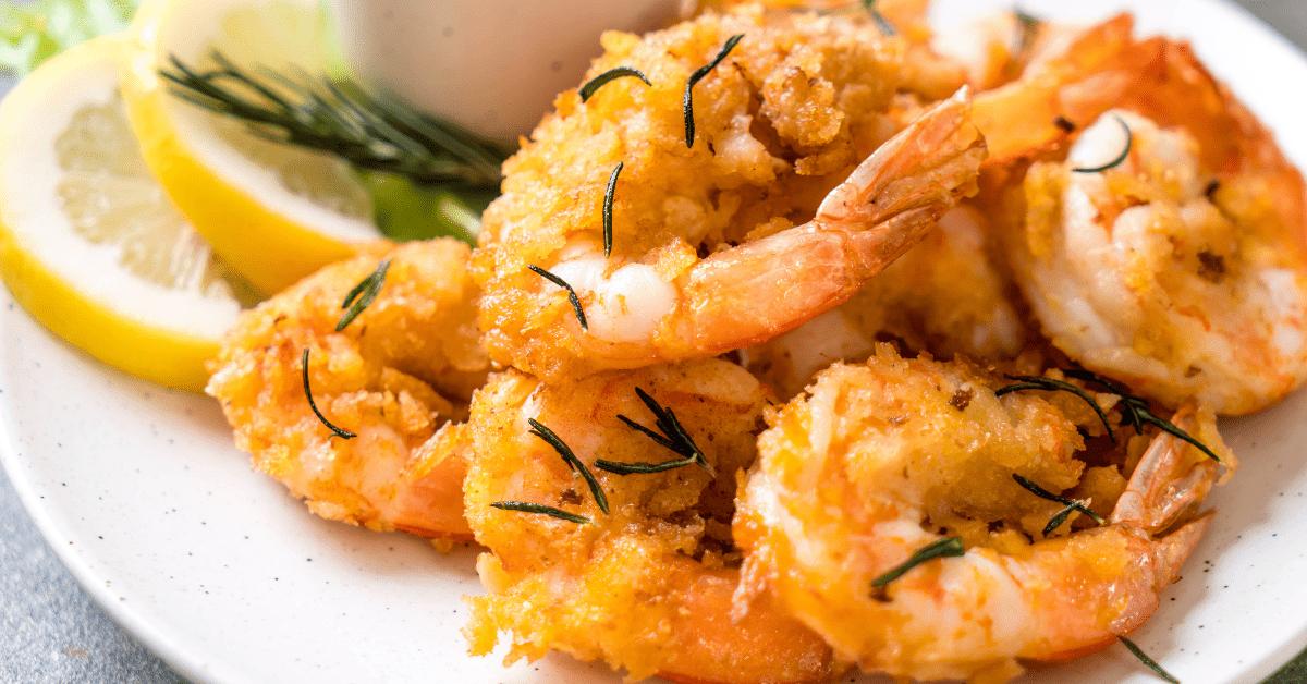 Homemade Red Lobster Coconut Shrimp with Lemons