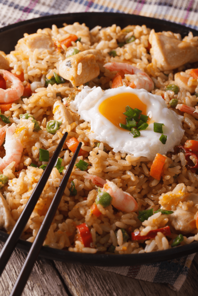 Indonesian Nasi Goreng with Fried Rice and Egg