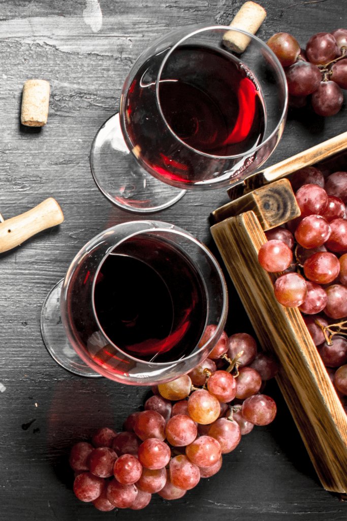 Merlot in Wine Glasses