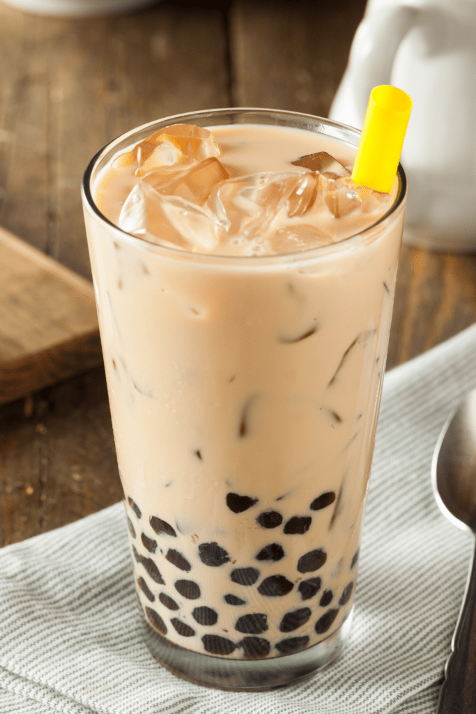 Milk Bubble Tea with Tapioca Pearls