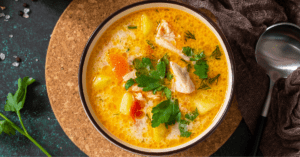 Norwegian Soup with Cream and Salmon