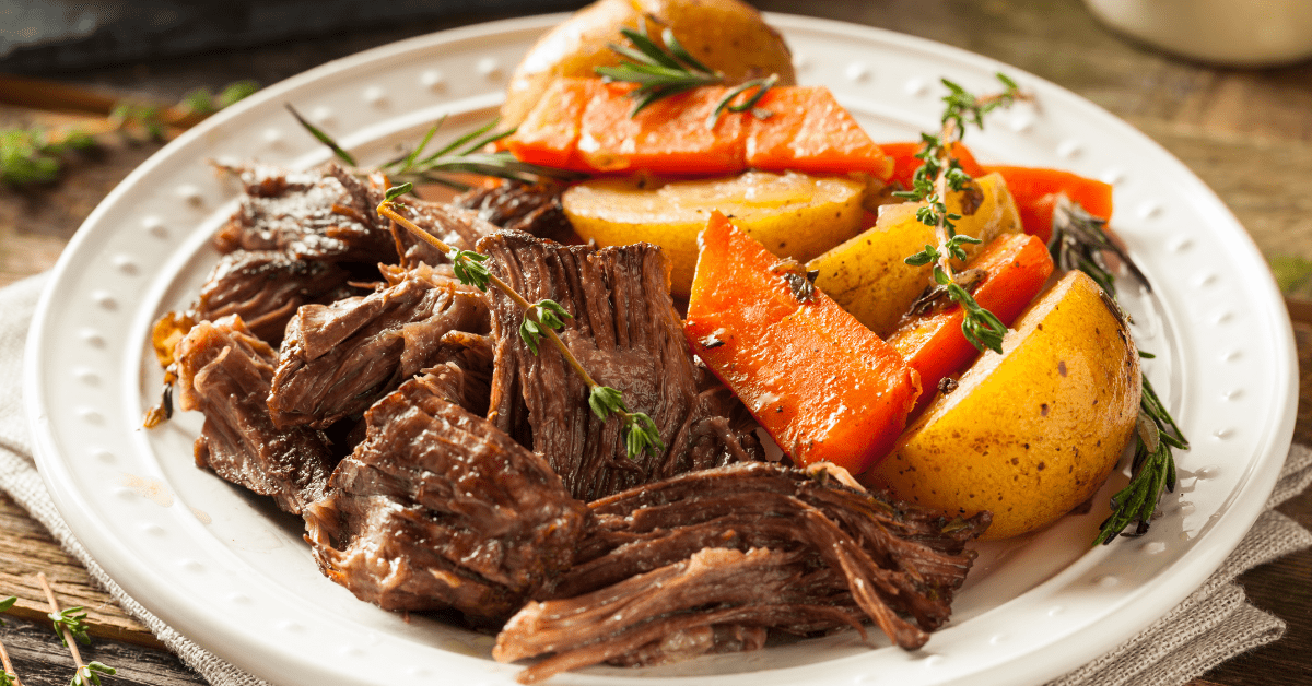 Slow Cooker Beef Pot Roast with Carrots and Potatoes