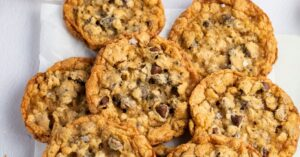 Sweet and Crispy Cowboy Cookies with Oats and Chocolate Chips