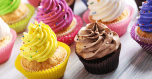Assorted Cupcakes with Sprinkles