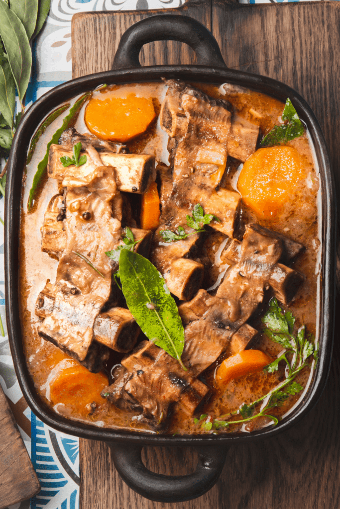 Beef Ribs Soup with Vegetables