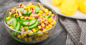 Bowl of Corn Salad with Vegetables