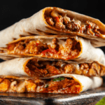Chicken Quesadillas with Paprika and Cheese