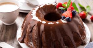 Chocolate Bundt Cake with Chocolate Glaze and Berrries