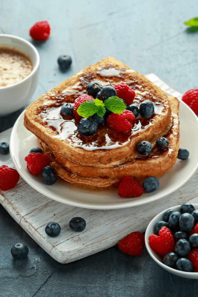 French Toast with Berries and Honey