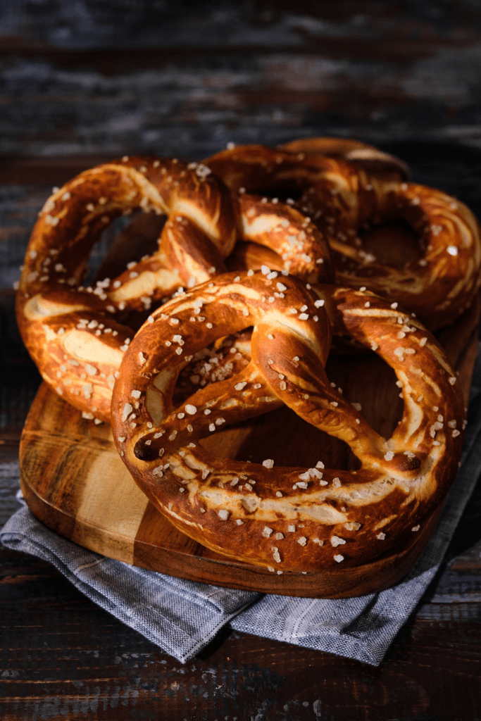 German Soft Pretzel with Salt