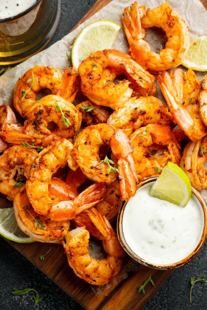 Grilled Shrimp with Lime and Dipping Sauce