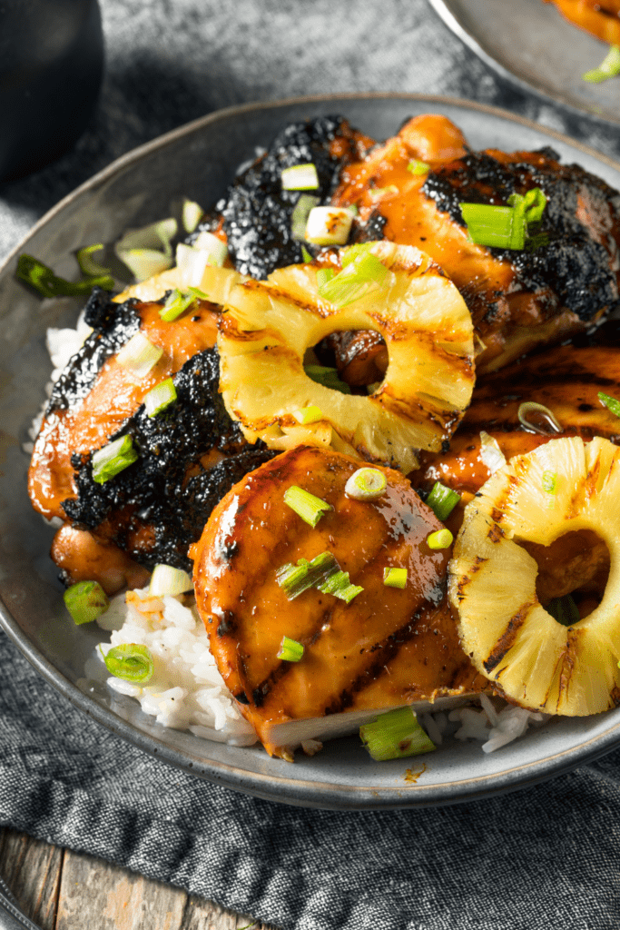 Hawaiian Chicken with Grilled Pineapple
