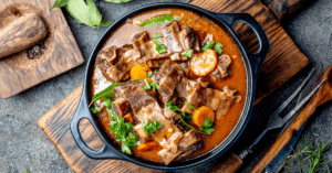 Homemade Beef Ribs Soup with Vegetables