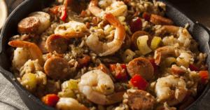 Homemade Cajun Jambalaya with Sausage and Shrimp