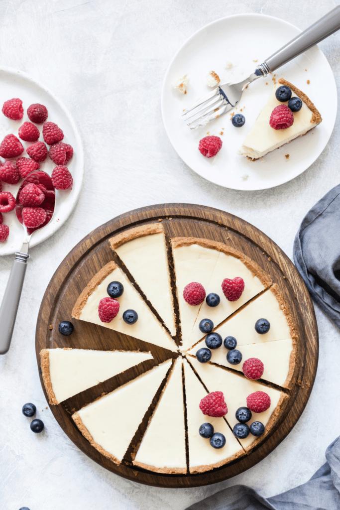 Homemade Cheesecake with Berries
