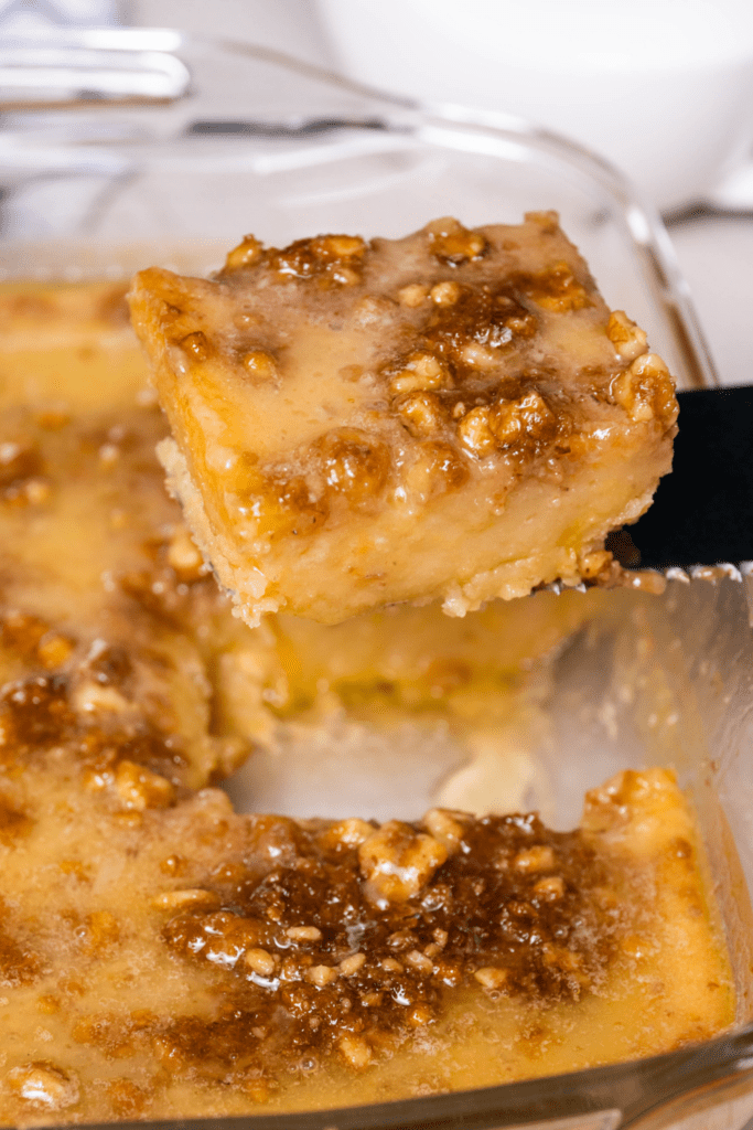 Homemade Granny Cake with Walnuts and Caramelized Sugar