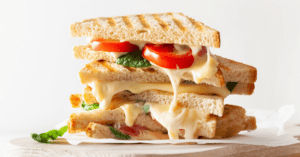 Homemade Grilled Cheese Sandwich with Tomatoes