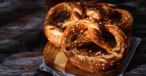 Homemade German Soft Pretzel with Salt