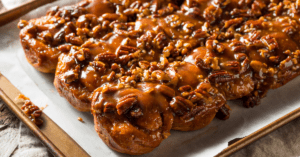 Homemade Sticky Buns with Pecan Nuts