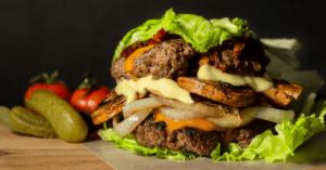 Homemade Texas Roadhouse Roadkill: Burger, Onions and Cheese
