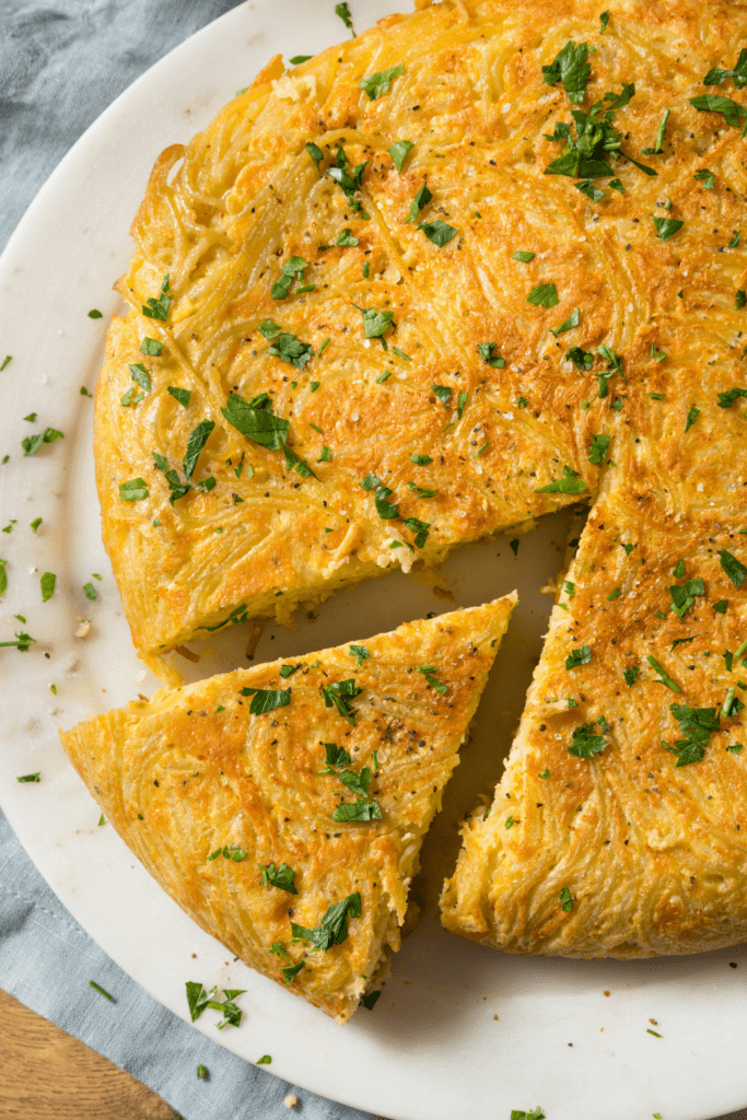 Spaghetti Omelette with Parsely