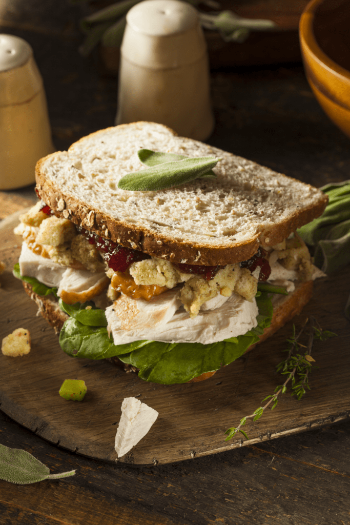 Turkey Leftover Sandwich with Cranberries