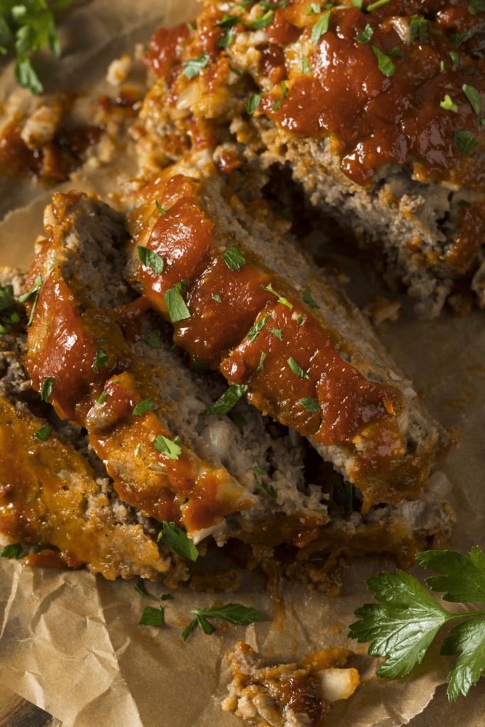 Leftover Meatloaf Close-Up Photo