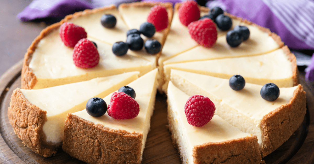 New York Style Cheesecake with Berries